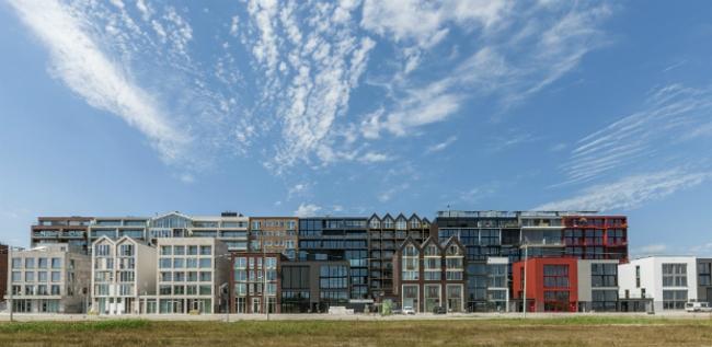 Жилой комплекс Superlofts Houthaven (Амстердам, Нидерланды).  Marc Koehler Architects. Изображение предоставлено WAF