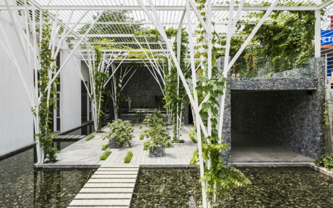 Зона отдыха Vegetable Trellis (Хошимин, Вьетнам).  Cong Sinh Architects. Изображение предоставлено WAF