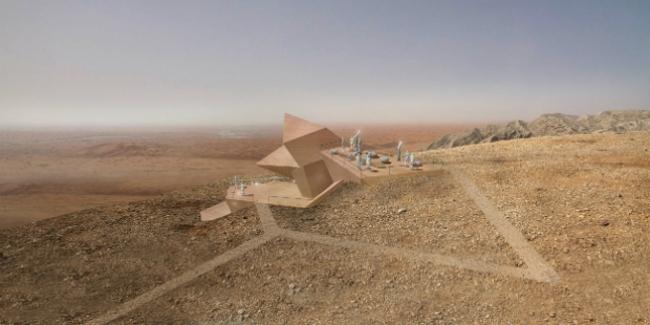 Обсерватория в Шардже (ОАЭ).  3deluxe Transdisciplinary Design. Изображение предоставлено WAF