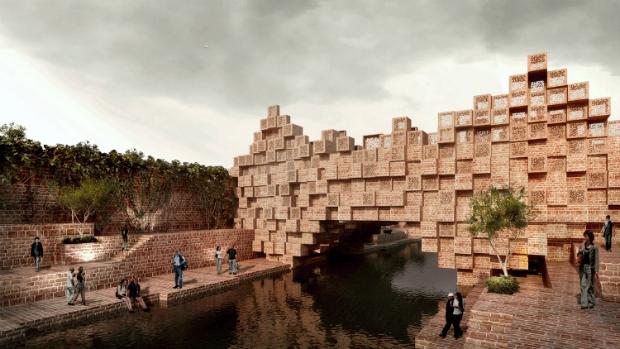 Мост в Расе (Индия).  Sanjay Puri Architects. Изображение предоставлено WAF