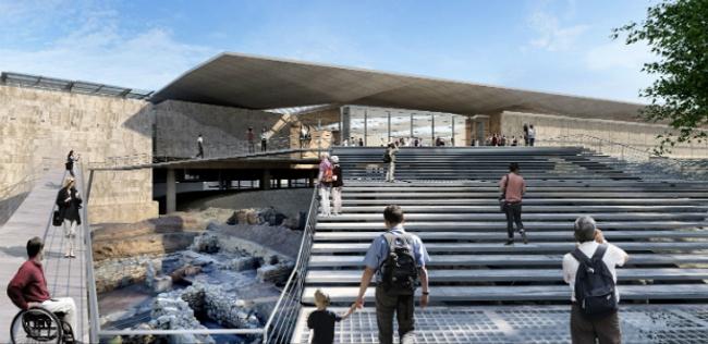 Новый Кипрский археологический музей (Никосия, Кипр).  Pilbrow & Partners. Изображение предоставлено WAF