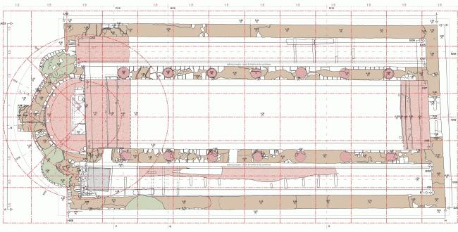 План храма Митры © MOLA