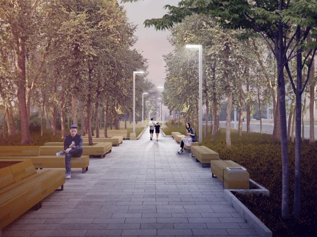 Благоустройство центра Троицка © Архитектурное бюро «Народный архитектор»