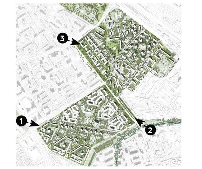 Концепция реновации Головинского района © ЦАБ Цимайло, Ляшенко и Партнеры + Valode & Pistre Architectes