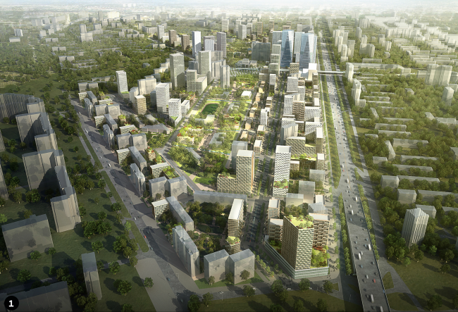 Концепция реновации района Кузьминки © Спектрум + AREP