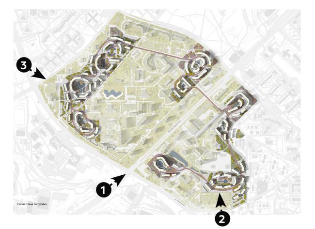 Концепция реновации района проспекта Вернадского © АГ Камень + Steven Holl Architects