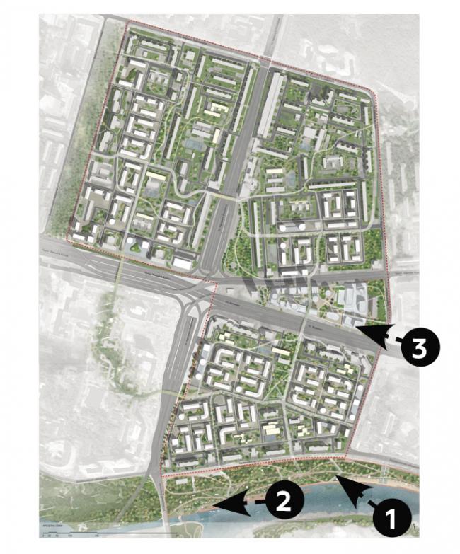 Концепция реновации района Хорошево-Мневники © AI Architects