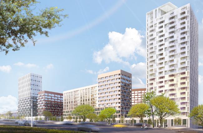 Концепция реновации района Хорошево-Мневники © UNK project + Nikken Sekkei