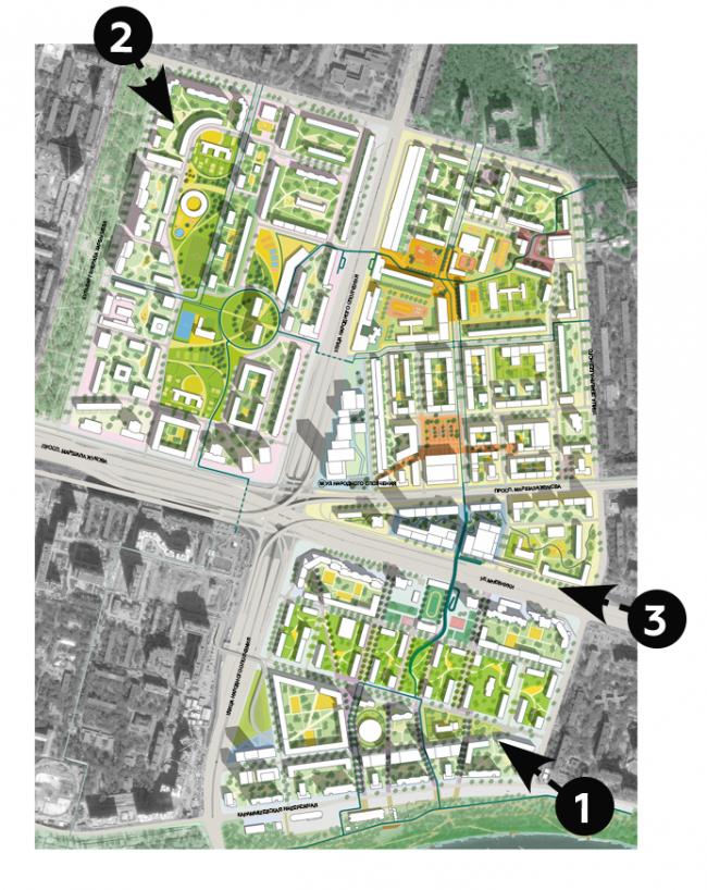 Концепция реновации района Хорошево-Мневники © MLA+, Buromoscow