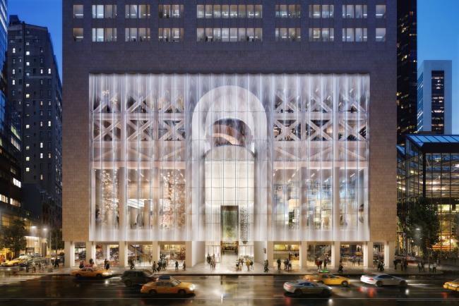 550 Мэдисон-Авеню, вход в лобби © DBOX