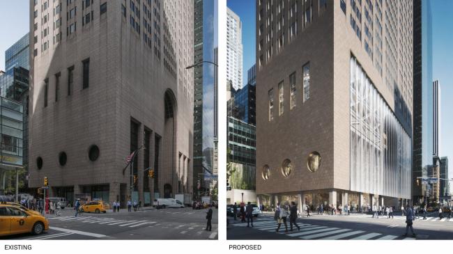 Сравнение существующего здания и проекта Snøhetta © DBOX