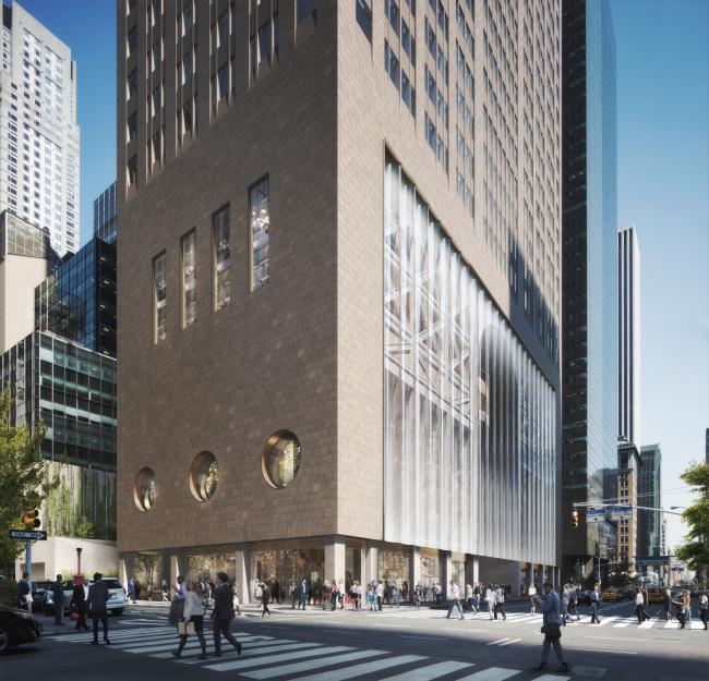 550 Мэдисон-Авеню, вид с северной стороны (с 55-й улицы) © DBOX