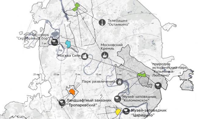 Схема расположения экспериментальных участков в городе © МКА