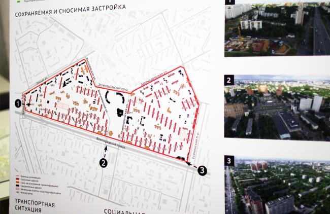 Кузьминки, исходные данные, пересъемка с показанного на выставке планшета: Юлия Тарабарина, Архи.ру