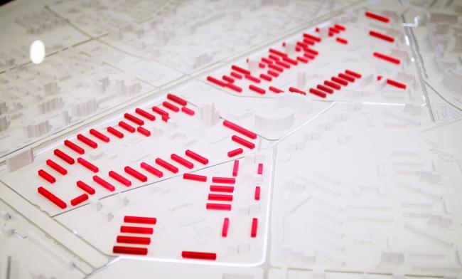 Кузьминки, пилотная площадка реновации. Макет, исходные данные. Фотография © Юлия Тарабарина, Архи.ру