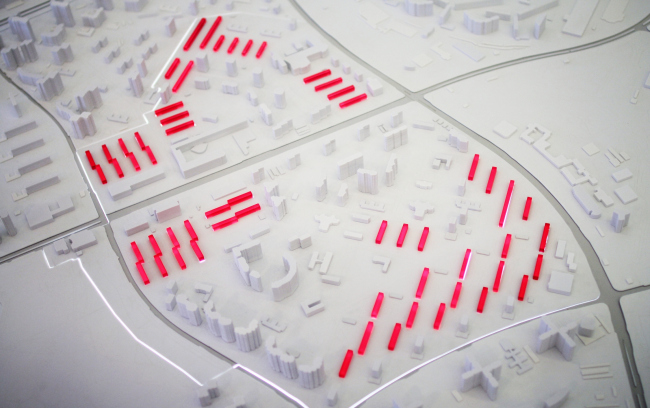 Район Проспект Вернадского, макет, исходные данные. Фотография © Юлия Тарабарина, Архи.ру