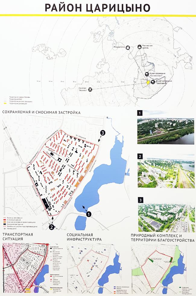 Район Царицыно, исходные данные; пересъемка планшета: Юлия Тарабарина, Архи.ру