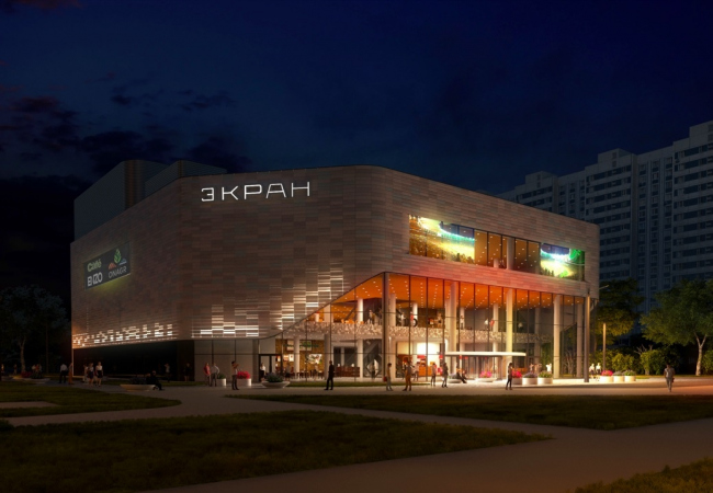 Реконструкция кинотеатра «Экран» © АО «Градостроительное проектирование». Предоставлено пресс-службой «Москомархитектуры»