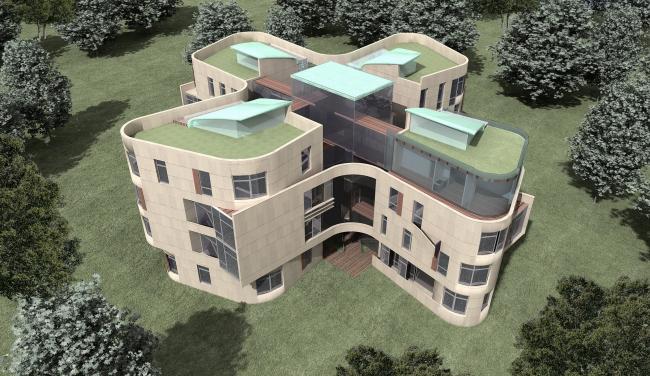 дом-четырехлистник