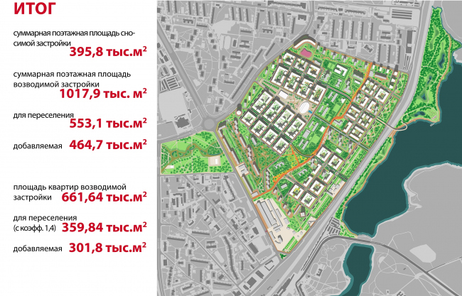 Концепция реорганизации кварталов территории 2А, 2 Б района Царицыно © ТПО «Резерв»