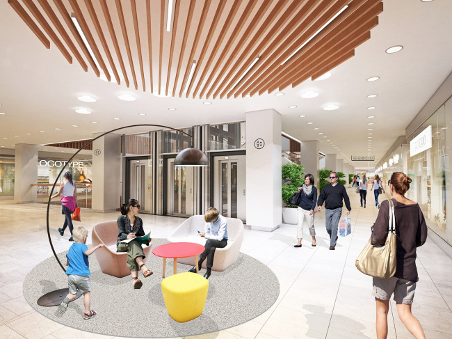 Реконструкция торгового центра  «Пятая Авеню» © Blank Architects