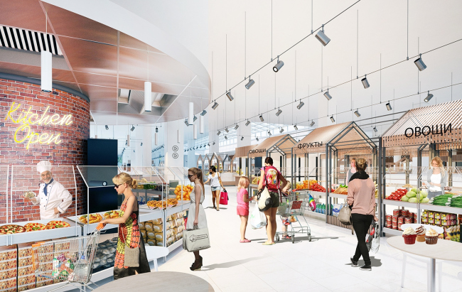 """Renovation of the """"Fifth Avenue"""" shopping center. Interior © Blank Architects"""