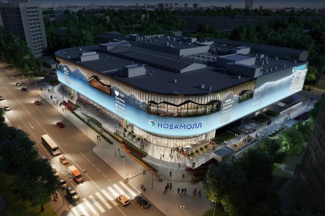 Реконструкция торгового центра  «Пятая Авеню». Дизайн освещения © Blank Architects