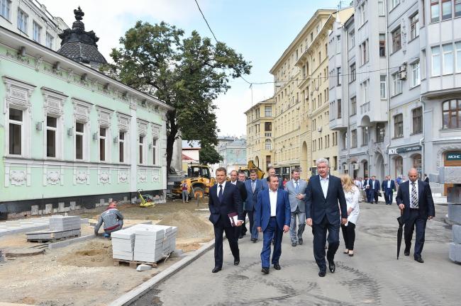 Реконструкция Пятницкой улицы.  в рамках программы «Моя улица». ©stroi.mos.ru