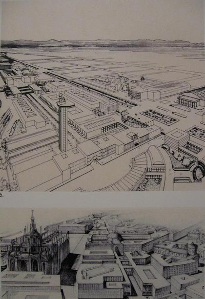 Джузеппе де Финетти. Проект реконструкции районов Милана. 1940-е гг.