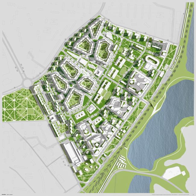 Концепция реновации района Царицыно © Прогресс + Erick van Egeraat