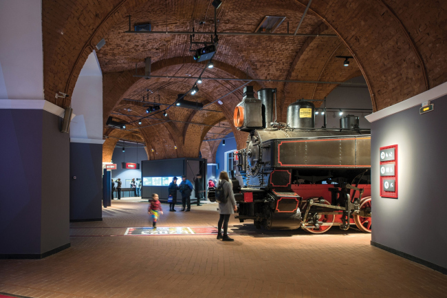 Центральный музей Октябрьской железной дороги. Экспозиция в залах старого депо. © Студия 44