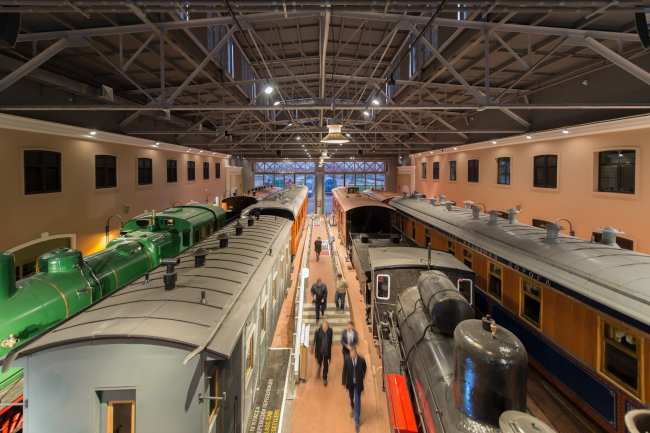 The Central Museum of the Oktyabrskaya Railway. Interior of the reconstructed depot © Studio 44