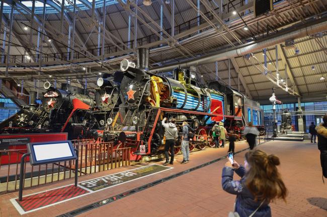 Центральный музей Октябрьской железной дороги. Интерактивная модель паровоза. © Студия 44