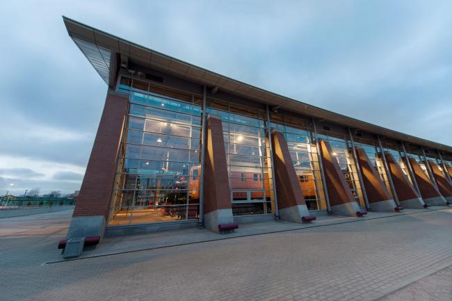 Центральный музей Октябрьской железной дороги. Пилоны нового корпуса. © Студия 44