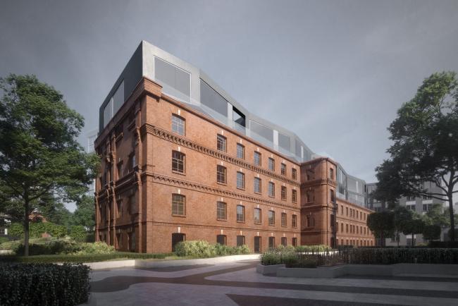 Конкурсный проект реновации Первой образцовой типографии. Здание в Старом дворе © ДНК аг
