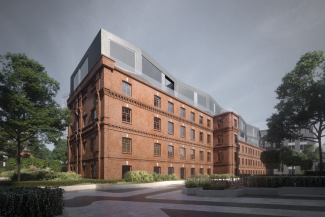 Contest project of renovating the First Exemplary Printing Works. Building in the old yard © DNK ag