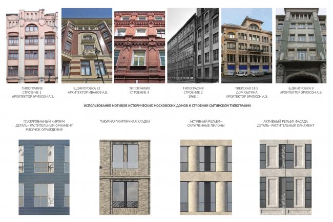 Конкурсный проект  реновации Первой образцовой типографии. Контекст © ДНК аг