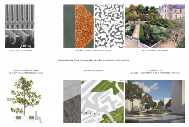 Contest project of renovating the First Exemplary Printing Works. Concept of landscaping the yards © DNK ag