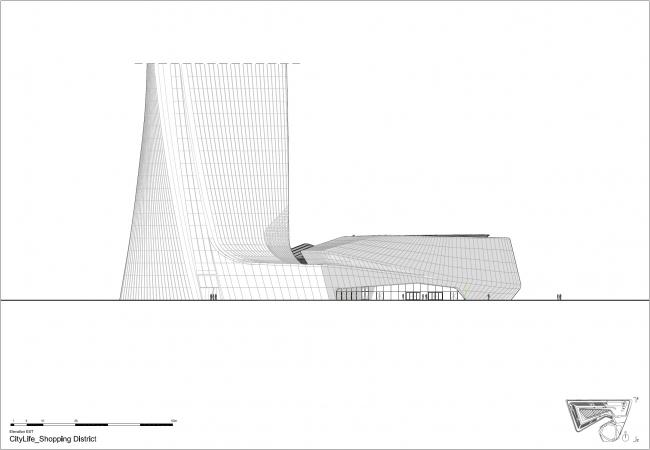 Торговый центр квартала CityLife © Zaha Hadid Architects