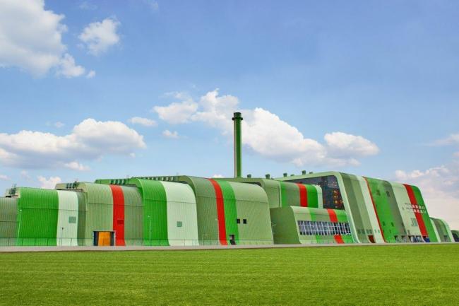 Мусоросжигательный завод в Кракове. Фото предоставлено Kalzip