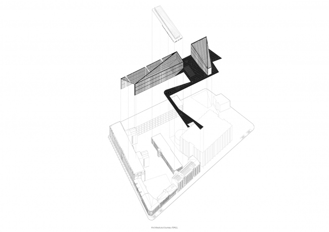 Contest concept of renovating the First Exemplary Printing Works. © Wall