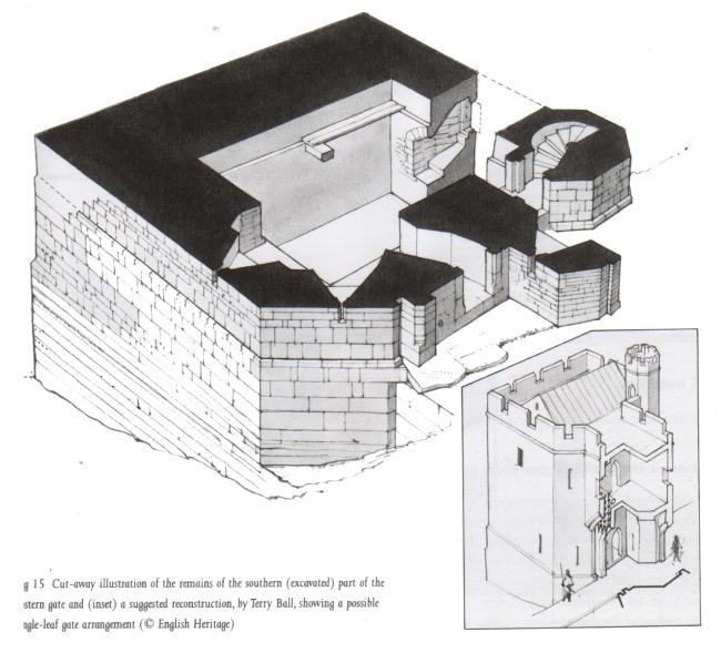 Реконструкция башни-постерна у Тауэр-хилл © English heritage
