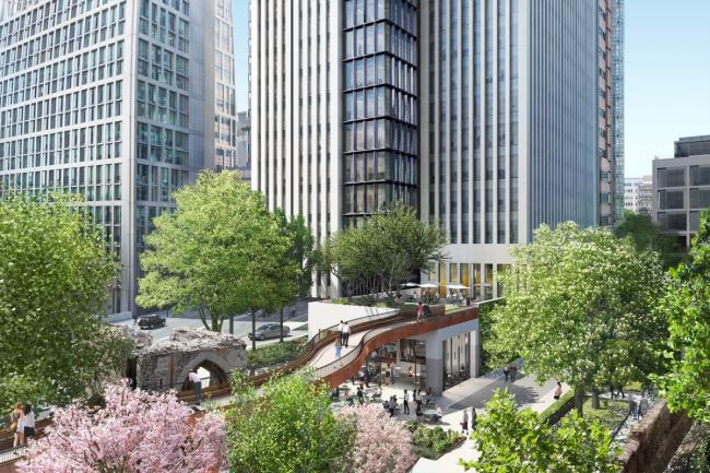 Высотный офисный комплекс London Wall Place ©  Make Architects