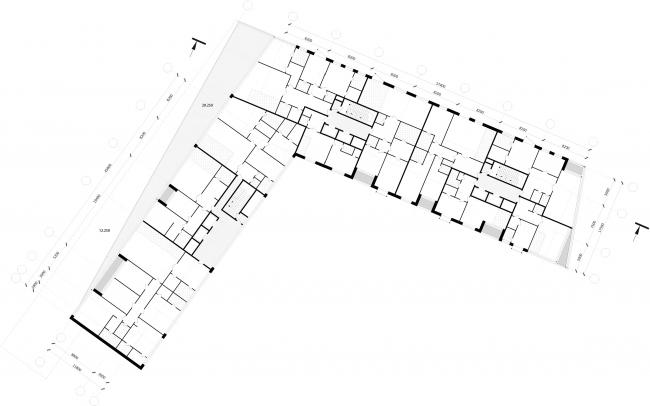 Жилой комплекс Z-House. План 6-7 этажа © Архитектурная мастерская ATRIUM