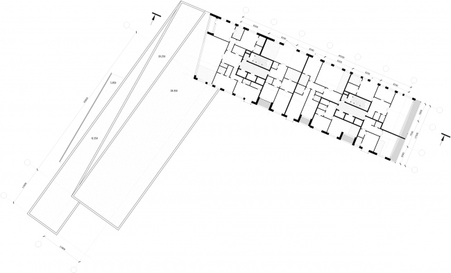 Жилой комплекс Z-House. План 8-9 этажа © Архитектурная мастерская ATRIUM