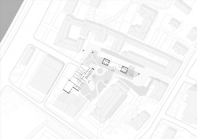 Жилой комплекс Z-House. План на отм. ± 0.000 © Архитектурная мастерская ATRIUM