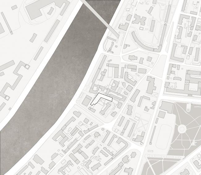 Жилой комплекс Z-House. Ситуационный план © Архитектурная мастерская ATRIUM