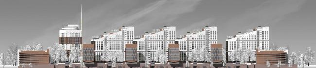 Концепция застройки «Санкт-Петербургского квартала» в Минске © «Студия-17» / изображение предоставлено КГА Петербурга