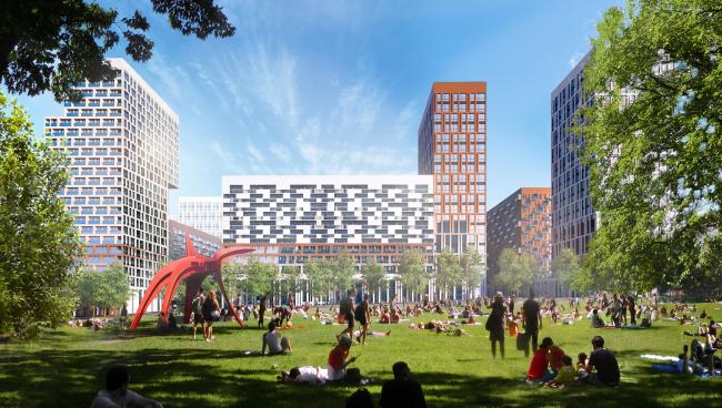 «Зеленая площадь» – место для игр и активного отдыха. © UNK project
