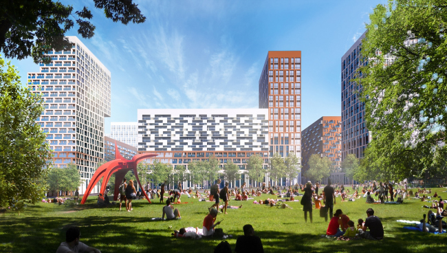 """""""Green Square"""" – the place for games and active recreation © UNK project"""
